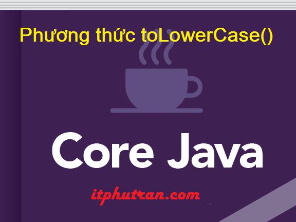 Phương thức toLowerCase() trong java