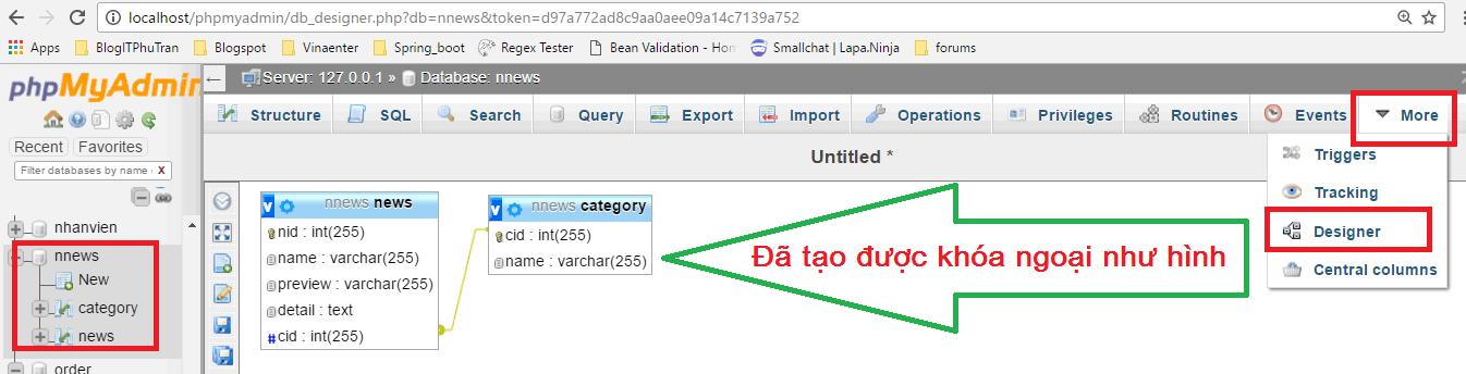 Khóa ngoại (Foreign Key) trong MySQL