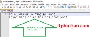 Ghi dữ liệu vào file trong Java sử dụng FileOutputStream