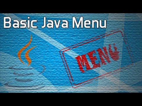 tạo menu trong java
