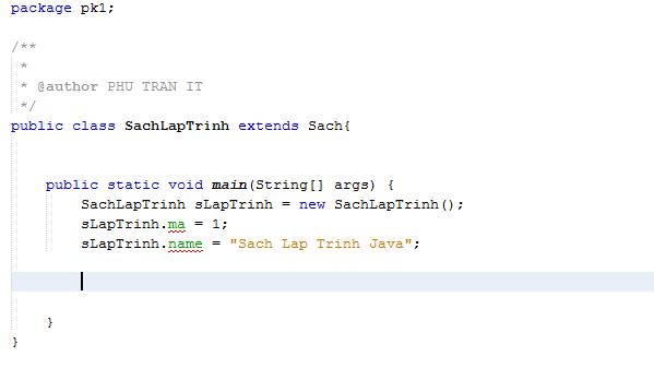 tính kế thừa trong Java