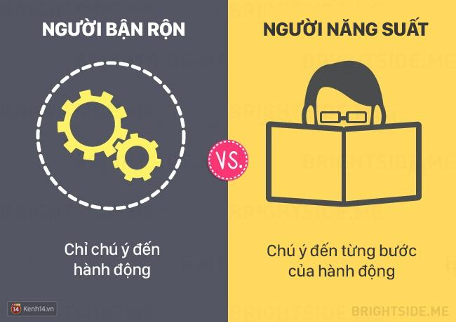 Sự khác biệt giữa người bận rộn và người năng suất cao
