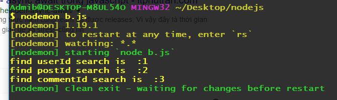 Kết quả khi xử lý callback trong javascript